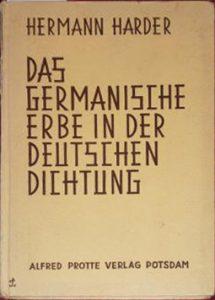 Alfred-Protte-Verlag Potsdam Das-germanische-Erbe-in-der-deutschen-Dichtung