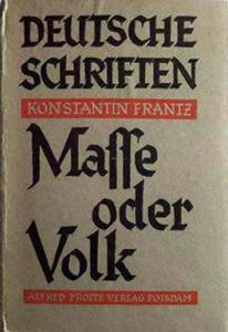 Alfred-Protte-Verlag Potsdam Masse-oder-Volk