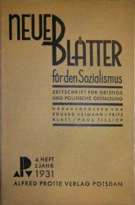 Alfred-Protte-Verlag Potsdam Neue-Blaetter-fuer-den-Sozialismus