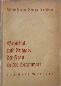 Alfred-Protte-Verlag Potsdam Schicksal-und-Aufgabe-der-Frau-in-der-Gegenwart