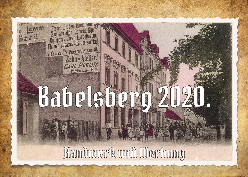 Babelsberg-Kalender 2020 Ivo Olias Potsdam
