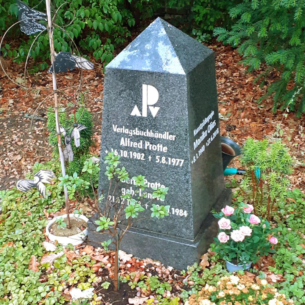 Alfred Protte Grabstelle Potsdam Neuer Friedhof